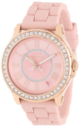 Juicy Couture Women's 1901054 Pedigree Dusty Rose Silicone Strap Watch