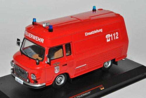 Barkas B1000 Feuerwehr Einsatzleitung SMH-3 Rot 1984 IST 169T 1/43 Ist Ixo Modell Auto