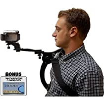 Hands Free Camcorder Shoulder Stabilizer With Carrying Case For The Sony DCR-DVD103, DVD108, DVD308, DVD408, DVD508, DVD610, DVD650, DVD703, DVD705, DVD708, DVD710 DVD Camcorders
