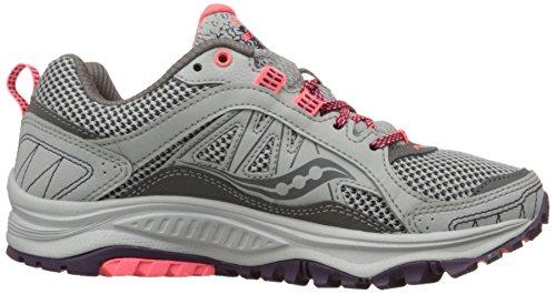 Saucony Women's Grid Excursion TR9 Trail Running Shoe, Grey/Plum/Coral, 10 M US