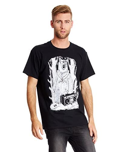Seventy Seven T-Shirt Manica Corta Boom Box Bear [Bianco]