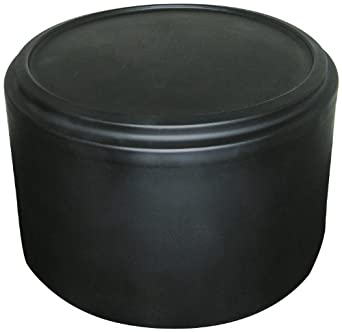 "Forte 8002086 Round Merchandiser, 21"" Diameter x 16"" Height, Black"