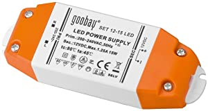 Goobay LED-Transformator; SELV Class II, DC-Betrieb 12 Volt 0,5 - 15 Watt