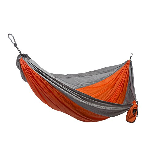 Grand Trunk Double Parachute Nylon Hammock (Orange/Silver)