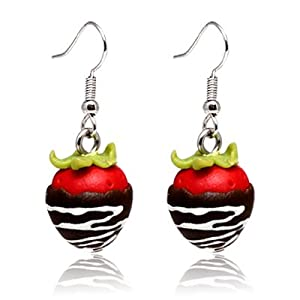 silver drop earrings miatures bottled sweets - cute and small but looks so real - great detail - packed in a velvet bag