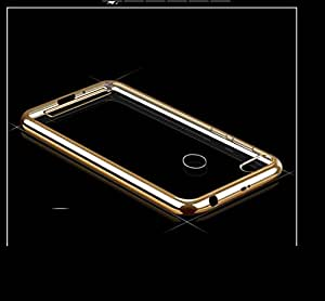 Wellpoint Back Cover For Xiaomi Redmi 3S Prime / MI 3S prime (Gold Edge Case) Rubber Case