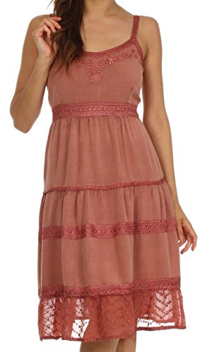 Sakkas julianne embroidered rayon dress
