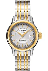 Tissot Carson Automatic White Dial Two-tone Ladies Watch T0852072201100