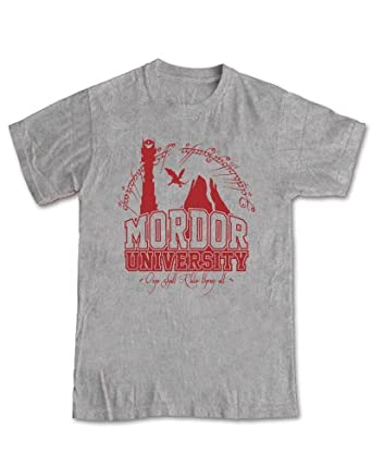 Lord of the Rings 'Mordor University' T-shirt (Sport Grey) - L