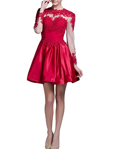 VogueDress-Prom-Dresses-Short-A-Line-Scoop-Long-Sleeves-With-Applique