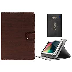 DMG Protective 7in Flip Book Cover Case for Nxi Ffmx (Brown) + 6600 mAh Three USB Port Power Bank