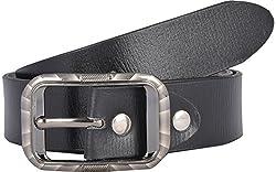 Western Lifestyles Men's Belt (WBL004, Black, Medium)