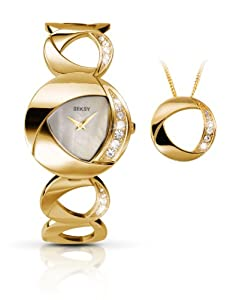 Seksy By Sekonda Ladies Gold Plated Watch 4451G.37 With Matching Pendant Gift Set