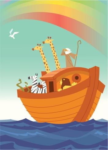 Noah'S Ark Wall Decal - 18 Inches H X 13 Inches W - Peel And Stick Removable Graphic