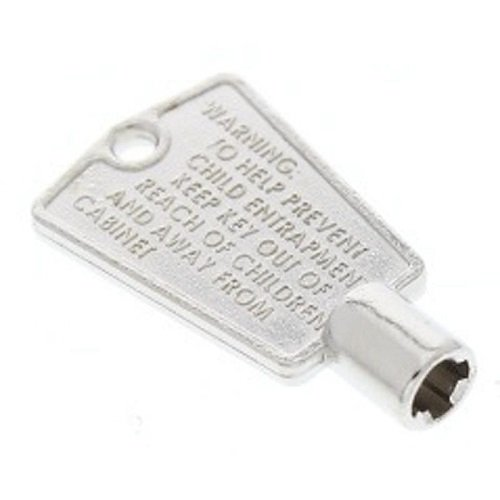 Refrigerator Freezer Door Metal Key Cross Pattern (+ 'Plus' Shape) New OEM Frigidaire