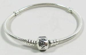 "Buckets of Beads 8"" 8 Inches Starter Snake Chain Classic Bead Barrel Clasp European Italian Bracelet."