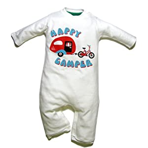 Little Green Radicals - Pelele de manga larga para bebés (algodón orgánico), diseño con texto en inglés, color blanco - BebeHogar.com