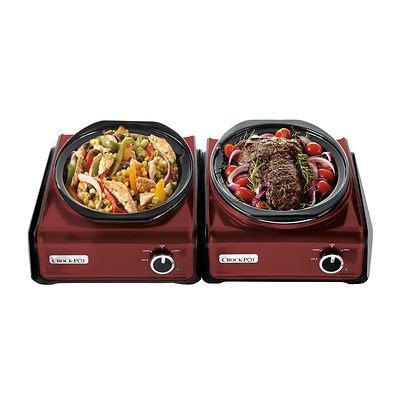 Crock-Pot Hook-Up 3.5 Qt. Oval Slow Cooker, 2-Pk - Red/Black