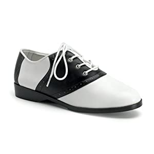 Pleaser's Adult Costume Saddle Shoes - Black and White