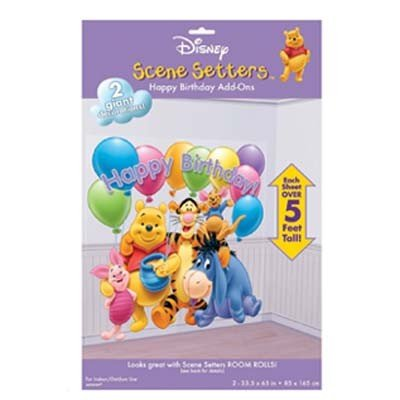 birthday party scene. Disney Pooh Birthday Party Scene Setters Add-Ons - Buy Disney Pooh Birthday