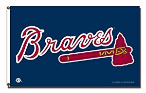 MLB Atlanta Braves 3-Foot x 5-Foot Banner Flag