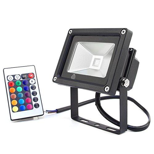 Multi colored flood lights outdoor : Zitrades ip waterproof w dc v rgb led flood light