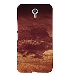 PrintVisa Cloudy Face Design 3D Hard Polycarbonate Designer Back Case Cover for LENOVO ZUK Z2 PRO