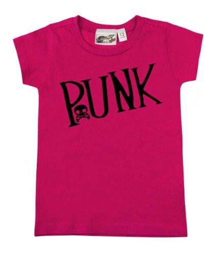 Punk Skull Hot Pink & Black Baby & Toddler T-Shirt (2T) front-567819