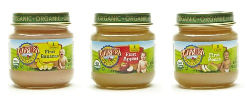Earth's Best Organic Stage 1, My First Fruits Variety Pack, 12 Count, 2.5 Ounce Jars