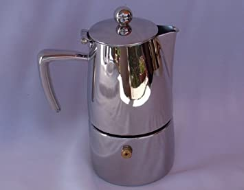 ILSA SLANCIO INOX  LUCIDA CAFFETTIERA ESPRESSO 4 TAZZE
