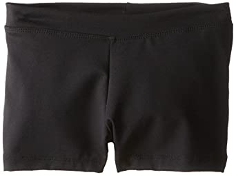 Capezio Big Girls' Boy Cut Low Rise Short,Black,M (8-10)