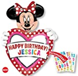 MINNIE MOUSE balloon PERSONALIZE w/NAME happy BIRTHDAY 24