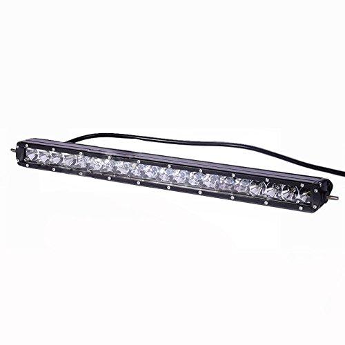 "Yuema 21"" 100W 9800Lm 20Leds Single Row Led Light Bar Spot Off Road Waterproof"
