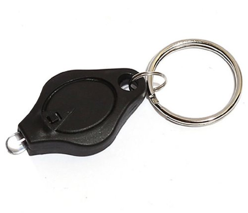 Leegoal (Tm) Mini Led Light Super Flash Bright Flashlight Micro Keychain (Black)