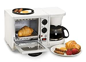 Maxi-Matic EBK-200 Elite Cuisine 3-in-1 Breakfast Station 4-Cup Coffee Maker, White