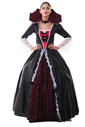 Voglee New Alice in Wonderland Queen of Hearts Fancy Dress Costume