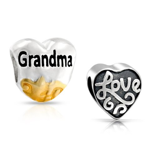 Bling Jewelry 925 Sterling Silver Two Tone Grandma