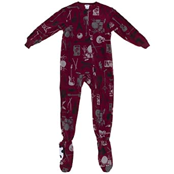 Komar Kids Rock Band Onesie Footed Pajamas for Boys XS/4-5
