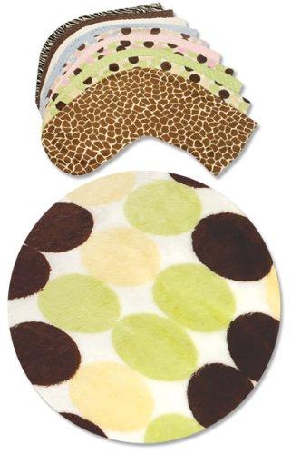 Luna Lullaby Bosom Baby Nursing Pillow Slip Cover, Big Polka Sage
