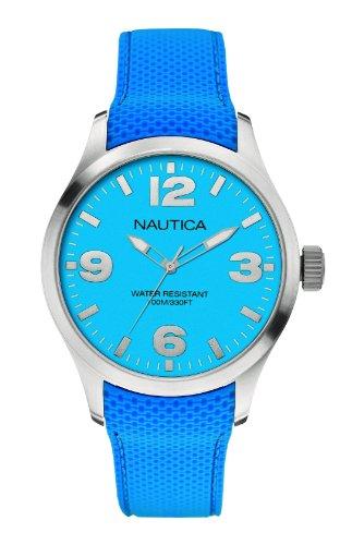Nautica - A11582G - Montre Mixte - Quartz Analogique - Bracelet Silicone Bleu