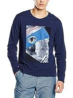 TRU TRUSSARDI Camiseta Manga Larga (Azul)