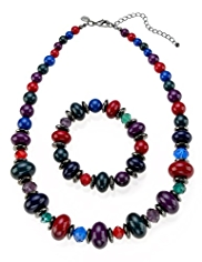 M&S Collection Assorted Bead Necklace & Bracelet Set