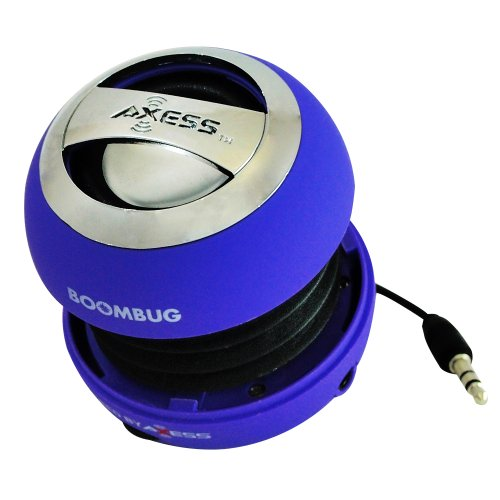 Axess Splw11-5 Boombug Wired Mini Portable Speaker With Rechargeable Battery (Purple)
