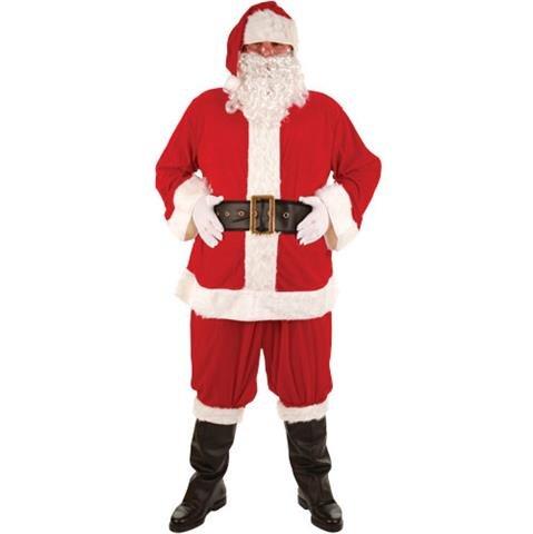Adult Super Deluxe 8 pezzo costume Santa Suit. Molto grande