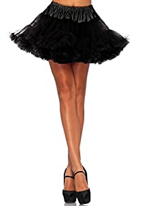 Leg Avenue Women's Petticoat Dress, Black, One Size
