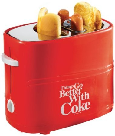 Nostalgia Electrics Coca Cola Series HDT600COKE Pop-Up Hot Dog Toaster commercial smooth milk hot dog stick waffle baker maker machine for hot dog