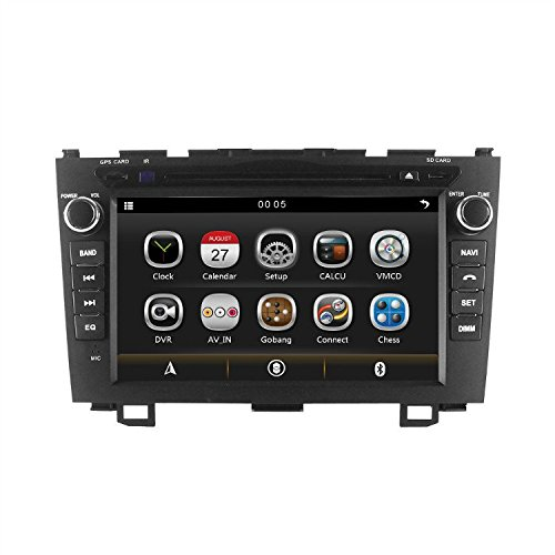 LIKECAR-7-Zoll-Autoradio-2-DIN-Multimedia-Sat-Navi-GPS-DVD-Navigationssystem-Touch-Screen-fr-Honda-CRV-CR-V-2007-2011-mit-FM-AM-Radio-Dual-Zone-Ipod-MP3-MP4-Iphone-Blueooth-RDS-USB-SD-Lenkradkontrolle