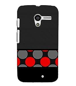 Black Red Dotted Art Cute Fashion 3D Hard Polycarbonate Designer Back Case Cover for Motorola Moto X :: Motorola Moto XT1052 XT1058 XT1053 XT1056 XT1060 XT1055