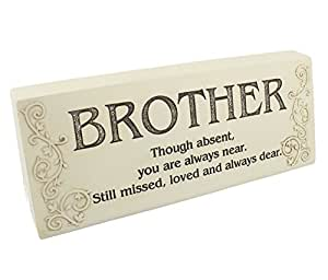 Amazon.com - Graveside Memorial Block Stone Effect Plaque Brother -