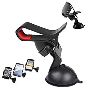 Case Supportive Clip On Grip 360° Windshield Windscreen Mini Car Mount Adjustable Rotatable Claw Holder Stand Cradle For MICROMAX CANVAS EGO A113 Mobile Cellular Cell Phone